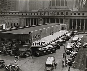 Port Authority Bus Terminal - The last of many bus terminals in Midtown, at Old Penn Station. In 1963, Greyhound became the last company to move to the PABT.