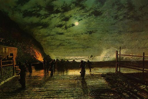 Grimshaw, John Atkinson - In Peril - 1879