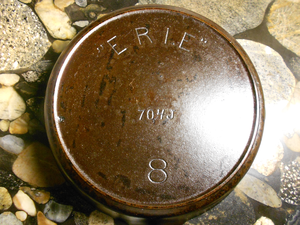 "Griswold Manufacturing - Griswold ""Erie"" cast iron skillet, using ""Erie"" logo before the ""Griswold"" logo was used."