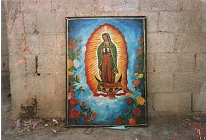 Oil Painting on canvas, of Virgin de Guadalupe