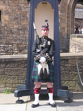Royal Regiment of Scotland - A Sentry of the Royal Regiment of Scotland, in No. 1 Dress, posted on the Esplanade at the entrance to Edinburgh Castle