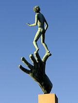 """""""Guds hand"""" på Millesgården, 2007."""
