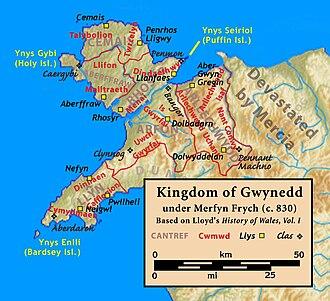 Kingdom of Gwynedd - Image: Gwynedd.830