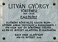 György Litván plaque Bp13 Pozsonyi40.jpg