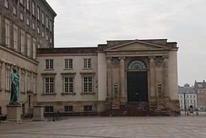 Supreme Court (Denmark) - The entrance to the Supreme Court at Christiansborg Palace