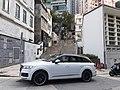 HK SW 上環 Sheung Wan 城皇街 Shing Wong Street 必烈者士街 Bridges Street sidewalk carpark white Q7 Audi February 2020 SS2 03.jpg