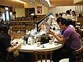 HK Sheung Wan Shun Tak Centre 元氣壽司 Genki Sushi restaurant interior visitors June-2012.JPG