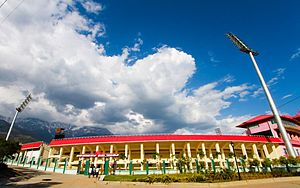 2013 Indian Premier League - Image: HPCA, Dharamshala Cricket Stadium