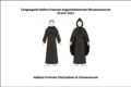 Habit of the discalced Augustinian priest-friars of the congregation of Italy.png