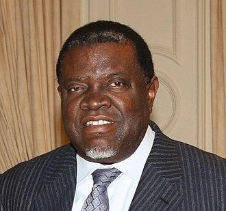 President of Namibia - Image: Hage Geingob