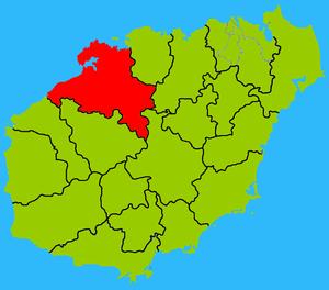 Danzhou - Image: Hainan subdivisions Danzhou