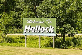 Hallock Minnesota welcome sign 8-14-2013.jpg
