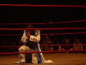Ayako Hamada - Hamada praying before her match in TNA.