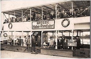 HADAG - Image: Hamburg Pleasure Boat, dated 21 August 1938 (6046992390)