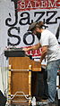 Hammond C3 Organ & Hohner Clavinet E7, on stage, Salem Jazz and Soul Festival 2012.jpg