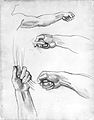 """Hands, Study for """"Apollo in His Chariot with the Hours"""" MET ap1973.268.2.jpg"""