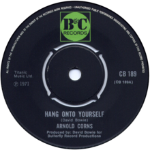 Hang On to Yourself by Arnold Corns UK vinyl 1971.png