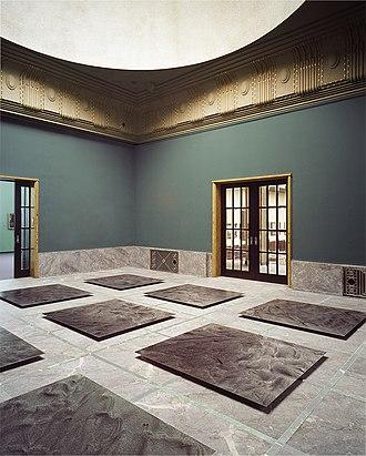 Hans Danuser - Hans Danuser, Erosion III – a floor installation, 2000–2006, 9 parts (III 1–III 9), photographs on baryta paper, each 150 x 140 cm, installation in the Kunsthaus Zurich (Böcklin hall).