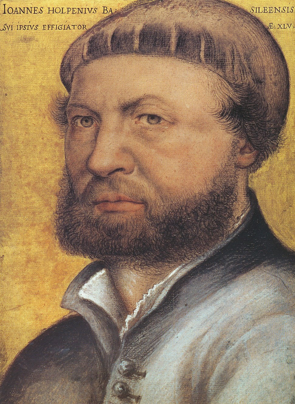 Hans Holbein the Younger, self-portrait