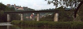 Wörnitz (river) - Bridge over the Wörnitz near Harburg.