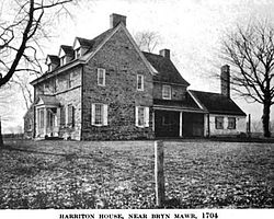 Harriton House as it appeared ca. 1919.