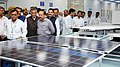 Harsh Vardhan visiting after dedicating the Automated Solar Photovoltaic Module Manufacturing Plant to the Nation, at Central Electronic Ltd., in Sahibabad (1).jpg