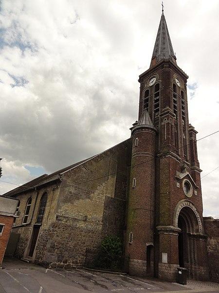 Haspres (Nord, Fr) église