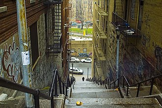 Highbridge, Bronx - A street with steps in Highbridge