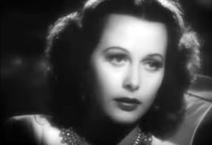 Cropped screenshot of Hedy Lamarr from the tra...