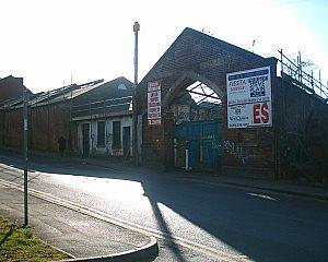 Heeley - Heeley tram depot in winter 2006.