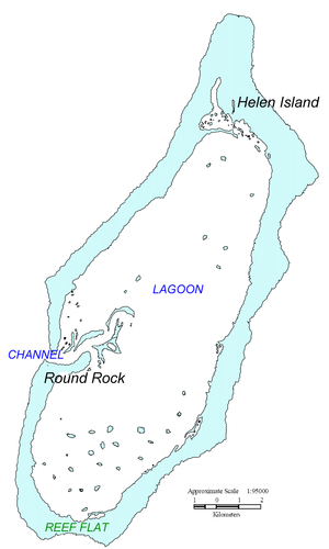 Hatohobei - Map of Helen Reef (Hotsarihie)