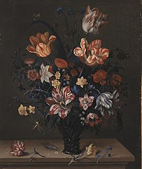 Tulips and Other Flowers in a Rummer
