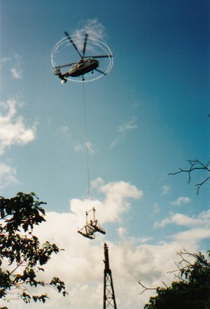 Skyrail Rainforest Cableway - Helicopters were used extensively during construction