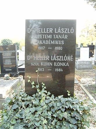László Heller - His grave in Budapest