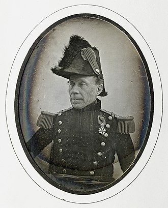 Guillaume Henri Dufour -  Daguerreotype of general G.H. Dufour, about 1850