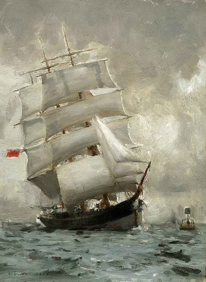 Henry Scott Tuke - Rounding the Manacle Buoy (1888)