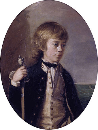Midshipman Henry William Baynton aged 13 (1780) Henry William Baynton by Thomas Hickey.jpg