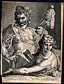 Hercules and Omphale. Engraving by B.W. Dolendo after B. Spr Wellcome V0035874.jpg