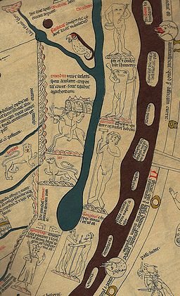 Hereford Mappa Mundi Detail Africa