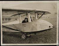 Hermione Hoare in Falcon III glider, probably at Dunstable, c. 1938 (5796124274).jpg