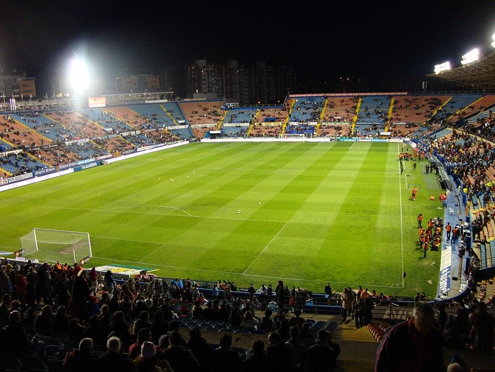 Het stadion van Levante, vanaf de noordtribune