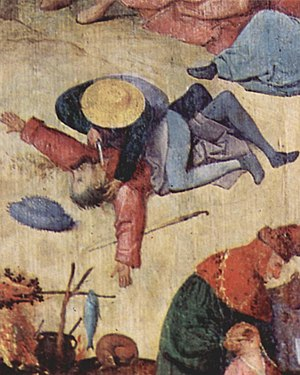 Stabbing - A detail from The Haywain Triptych by Hieronymus Bosch
