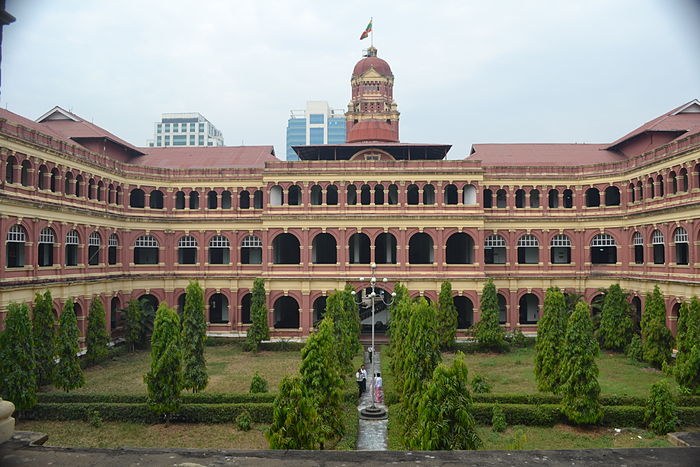 Panoramic view over the western side of Square ward building