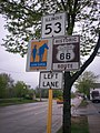 Historic Route 66 & Route 53 in Joliet IL south of Theodore Street.jpg