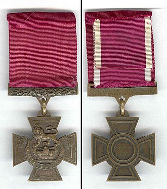 Victoria Cross - Image: Holland VC f&b