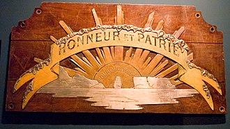 Honneur, patrie, valeur, discipline - Image: Honneur et patrie