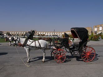 Horse and buggy - Horse and buggy, Naqsh-i Jahan Square, Isfahan, Iran