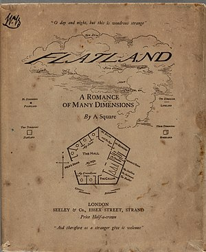 Flatland - The cover to Flatland, first edition