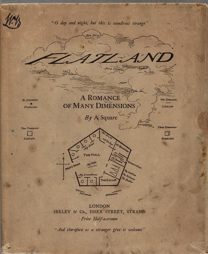 《平面國》1884年第一版書封。
