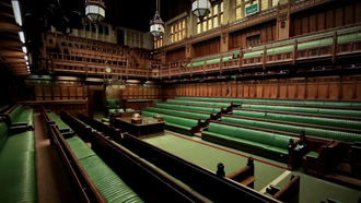 House of Commons - The British House of Commons Chamber in London